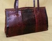 Jane Shilton Handbag Real Snakeskin With Suede Lining.