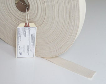 """USA Military Grade, 100% Cotton, Webbing, Strapping, Natural, 1.5"""" Wide By The Yard"""
