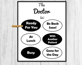 Doctor Gift for Doctor Digital Download Doctor's Office Wall Decor Printable Art Downloadable Door Sign Printable Art Doctor's Office Prints