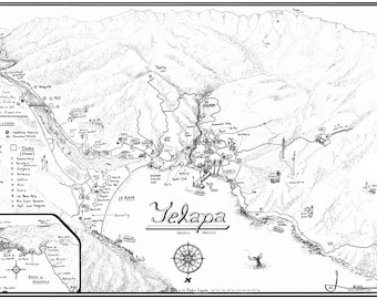 Yelapa Map 2010 Signed
