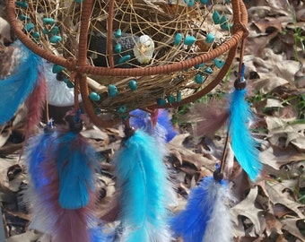 Eagle in Nest Dream Catcher. Made to order. FREE SHIPPING