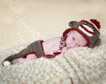 Sock Monkey Hat Baby Child Photo Accessory