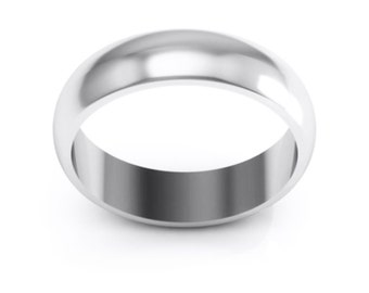 Stainless Steel 6mm Ring Band. Free Engraving Included.