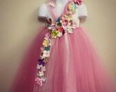 25% off ends 7/30 Pink Flower girl dress,Fairy tutu, Flower Girl Dress, Fairy Princess, Toddler Fairy Costume, tutu dress, pink tutu dress,