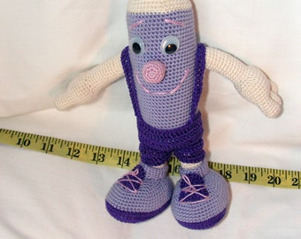 Crochet knit FUNNY PENCIL baby toy eco-friendly baby gift organic cotton toy kids gift