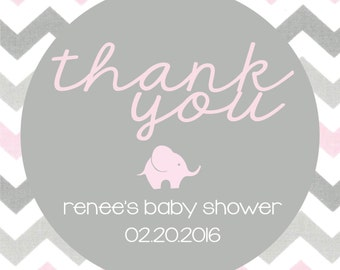 Baby Shower Thank You Tag Printable Customizable