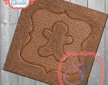 Embossed GingerBread Design For Machine Embroidery  INSTANT Download