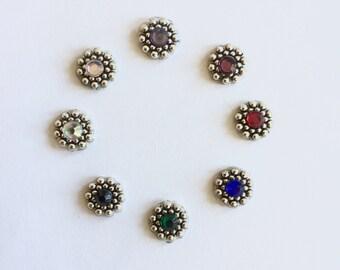 Silverblossom Bindi mit verschiedenen Strasssteine-Farben