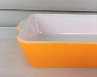 Vintage Pyrex 503 - Fridge Dish - Orange- NO LID! - 1.5 QT - #24