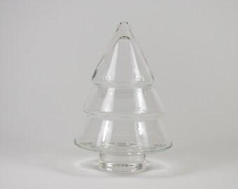 Bottle of glass tree of Christmas