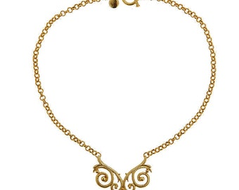 Owl Pendant Necklace, 18Kt Gold Plated