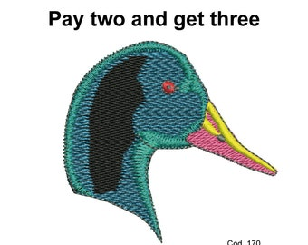 Embroidery design duck