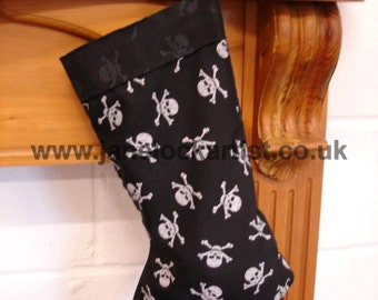 Skull & Crossbones Pirate Stocking