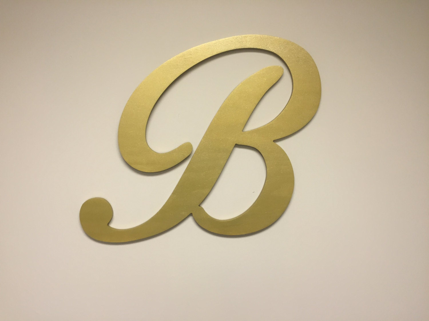 Gold letter b large letter decor wood wall letters by howdyowl for Large gold letters for walls