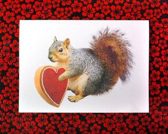 Squirrel Valentine Printable Card