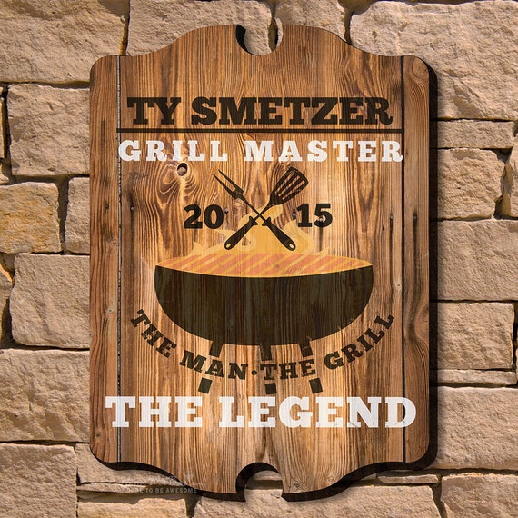 Personalized Sign Home Wall Decor The Man The Grill The