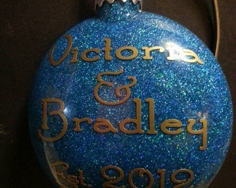 Custom Name Ornament.  Acknowledge a new baby, engagement,special event or date for your child, family,relationship or almost any milestone.