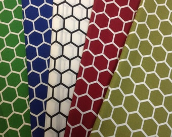 Honeycomb Print Cotton Fabric