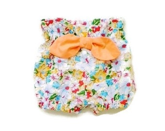 """Baby girls clothing,  Baby girls bloomers, size  0-3 months, Girls High waisted bloomers, """"READY TO SHIP"""""""