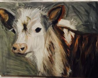 18X22 Original Farm Cow