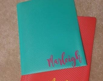 Personalized School Folders, Personalized Pocket Folders, Personalized Back to School, Personalized School Supplies, Monogrammed Folders