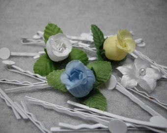 "White Bobby Pins Hair Pins with a 1/4"" Pad. Make your own hair accessories for your Wedding Party,Bachlorette Party, Birthday, Everyday Hair"