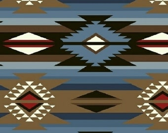 Modern Fabric-Western Themed Cotton Fabric-Modern Quilting Fabric Navajo Southwest Wild West Fabric-Western Print