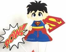 Free Shipping - Superman Centerpiece   DC Comics Superhero   Superman birthday or baby shower   Clark Kent - Man of steel theme party!