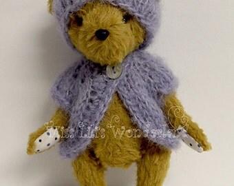 "Artist Bear ""Viola""- 4.8"" Teddy bear OOAK"