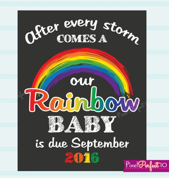 Rainbow Baby Pregnancy Announcement Photo Prop