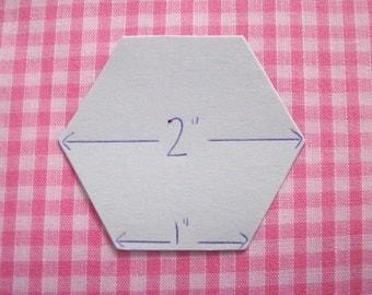"100 x 2 "" Hexagon Patchwork Freezer Paper Templates - perfect for EPP"