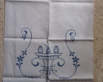 Towel rack curtain cloth with old Dutch scene