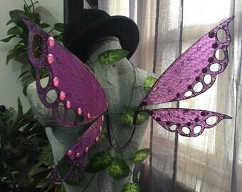 Purple Pixie Lace Fairy Wings - Sale Item/ Size M/L