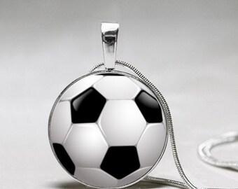 Soccer Necklace- Soccer Ball Earrings Jewelry - Soccer Mom Necklace- Soccer - Gift for Soccer Mom - Soccer Girl Gift