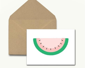Watermelon Note Cards – Set of 10 With Envelopes
