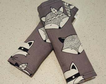 Strap Covers, Pram Strap Covers, Car Seat Strap covers, woodland animal, A H Baby Boutique