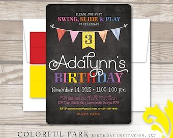 COLORFUL BIRTHDAY .  invitation