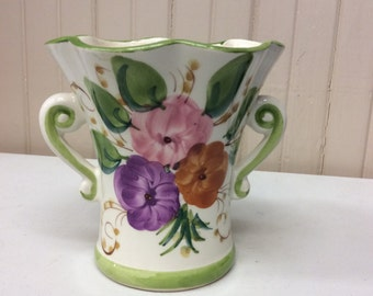 Hand painted vintage vase from Portugal
