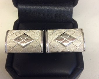 Men's Silver Color Cuff Links
