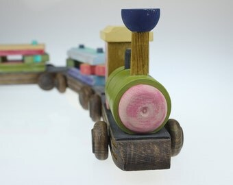 Wooden Train , Wooden Toy, Toddler Toys