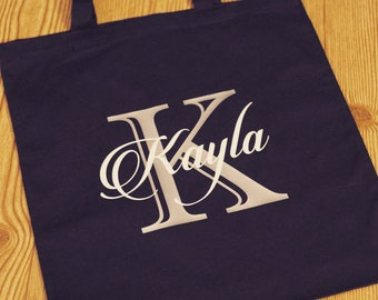 Personalized Tote Bag, Bridesmaid Tote Bags, Set of Personalized Tote Bags, Set of Bridesmaid Totes, Canvas Tote Bags, Bridesmaid Gifts,