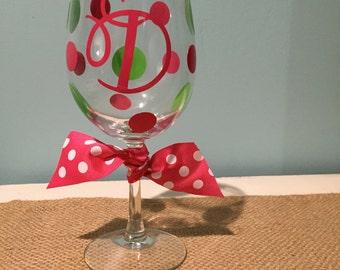 Initial Wine Glass