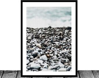 Pebbles Print - Printable Art, Zen, Pebble art, Beach decor, Nautical decor