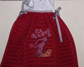 Elegant Reindeer Hanging Dress Towel