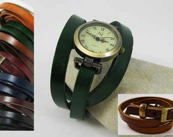 Small wrist watch with nice loop many leather colours for bracelet