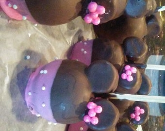 Minnie mouse themed apples