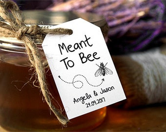 Meant To Bee Tags - Personalized Thank You Tags - Wedding Favor Tags - Custom Wedding Stickers - Mason Jar Tags