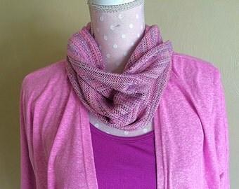 "Luxurious Handwoven Egyptian Cotton/silk/Pima Cotton cowl neck scarf  ""Mademoiselle"""