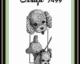 DOG Puppy Crochet Pattern Adorable Stuffed TOY Pet Vtg Mail Order Design 7499
