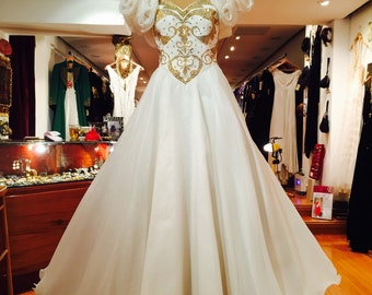 1970's Alan Cherry Vintage Couture Crystal Beaded Gown